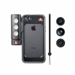 Комплект Manfrotto MKLOKLYP5S Bumper iPhone 5/5S+3 Lenses+LED: бампер для iPhone 5/5S + объективы + свет