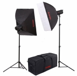 Комплект освещения Jinbei QZ-1000 Quartz Light 3200K Front diffuser softbox Kit №3