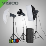 Комплект освещения Visico VL PLUS 200 Softbox Barndoor kit с сумкой