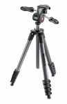 Штатив Manfrotto MKCOMPACTADV-BK Compact Advanced + 3D голова (черный)