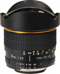 Объектив Vivitar MF 8mm F/3.5 CS Fisheye APS-C для Canon